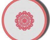 Mini Round Doily Cross Stitch Pattern PDF