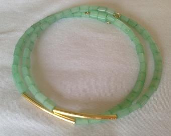 Glass bead bangle set.
