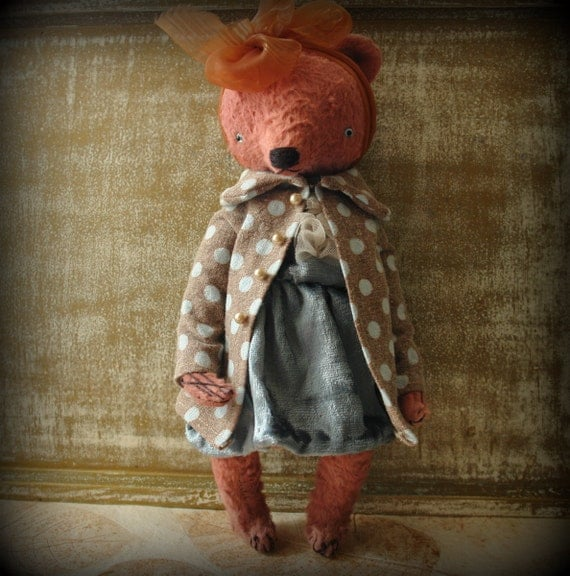 11 inch Artist Handmade OOAK Mohair Teddy Bear Yulya by Sasha Pokrass