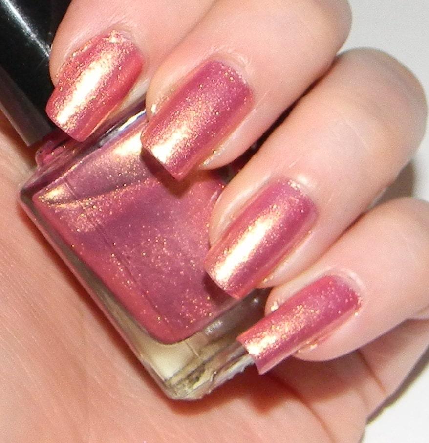 Pink And Gold Glitter Nail Polish Pink Nail Polish With Golden