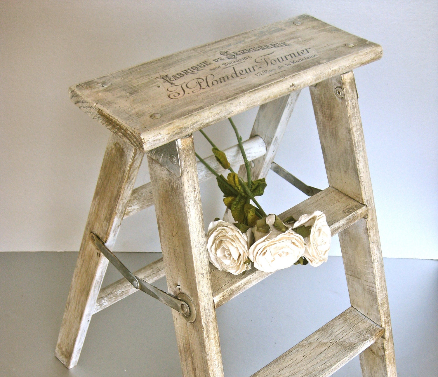 French Step Stool Vintage Stool Wood Ladder By Swede13cottage