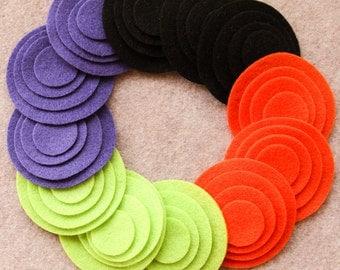 Wicked - Circles - 48 Die Cut Felt Circles