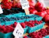 Farmers Market Summer Berries Fine Art Photography -  5x7