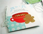 Gingerbread Cocoa GIFT TAGS - set of 4 square cards