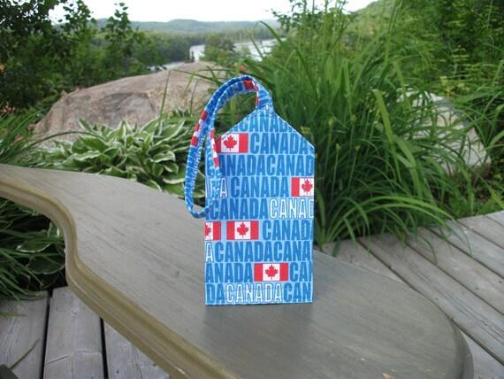 Canada and Flag Luggage Tag