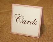 Wedding Cards Sign - Blush