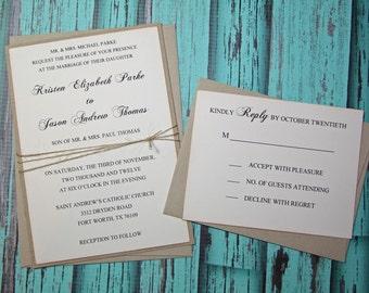 Rustic Wedding Invitation - SAMPLE