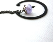 Orchid Purple Lavender Modern Metal and Glass Necklace : Modern Mod Necklace Beauty and the Beast Necklace Pantone Color Orchid