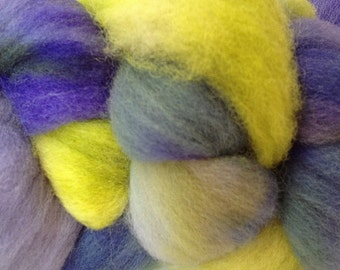 Wool Roving Hand Dyed in Early Crocus