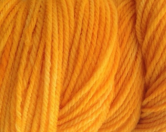 Mama Orange Worsted Weight Hand Dyed Merino Wool Yarn