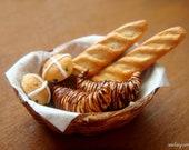 1/12 Scale Miniature - Miniature Bread Basket