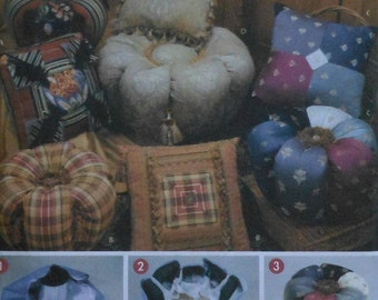 Small Ottoman & Pillow Sewing Pattern UNCUT Easy-to-Make Simplicity 5019