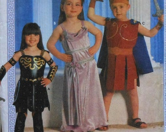 Warrior Princess & Warrior Costume Sewing Pattern UNCUT Simplicity 7834