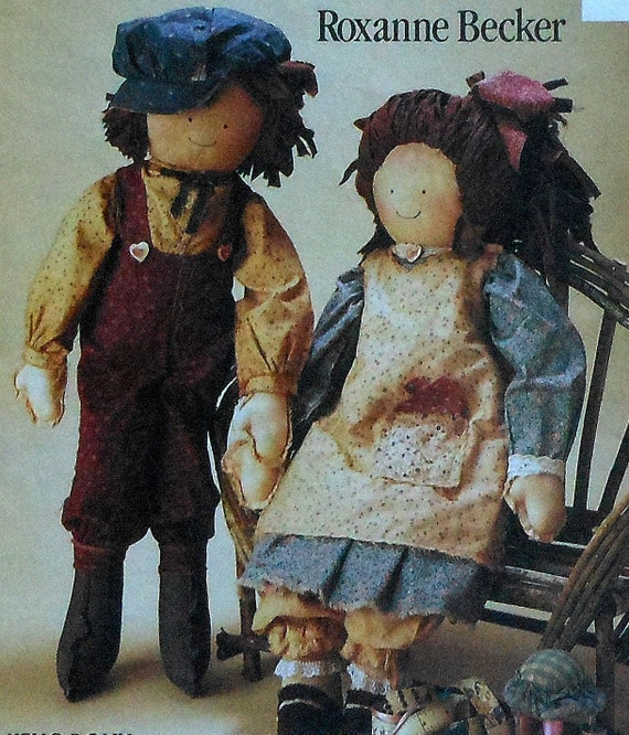 """24"""" Boy and Girl Cloth Dolls and Clothing Sewing Pattern UNCUT McCalls 6039 rag doll"""