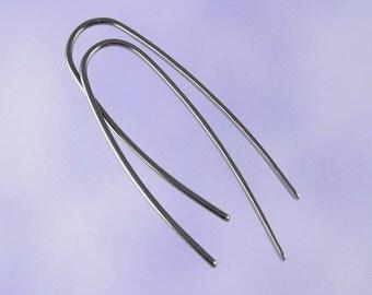 Niobium earrings: 18 gauge Marquise