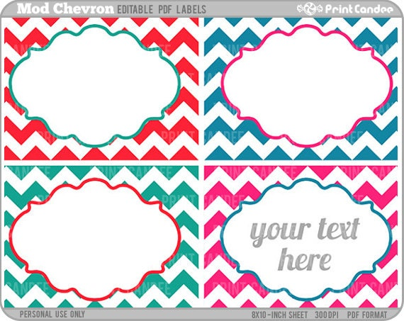 Rectangle editable pdf 8x10 mod chevron labels rectangle editable pdf 8x10 mod chevron labels printable labels cards pronofoot35fo Images