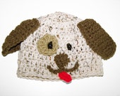 Li'l Puppy Hat/ Baby hat / crochet baby hat / photo prop for newborns pictures