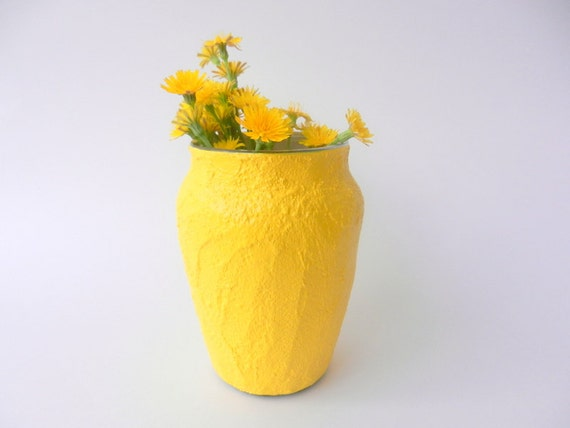 Reserved: Yellow Vase / small taper vase / yellow Home Decor / made to order