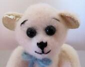 6 1/2 inch OOAK felt Teddybear, Cheedle