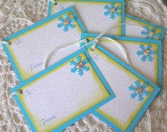 Snowflake Gift Tags Set of 6, Christmas Tags, To From Christmas Gift Tags with Snowflake (CGT1306)