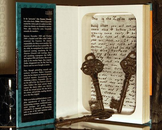 Hollow Book Safe (ZODIAC UNMASKED)