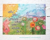 SALE: buy 2 sets, receive 3 sets of 8 unique mixed media Postcards perfect HOLIDAY gift.