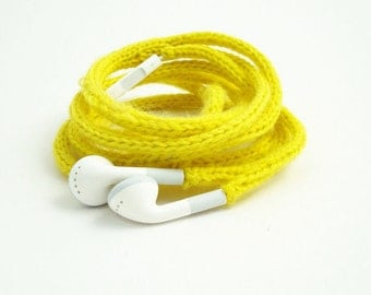 SALE Tangle-Free Earbuds in Splashy Yellow, Authentic Apple Earbuds
