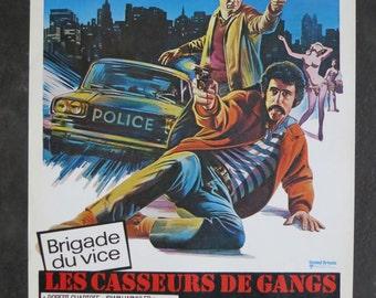 "1974  "" Busting "" original movie poster"