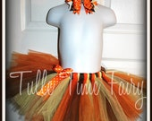 1st First Thanksgiving fall Autumn tutu and bow headband  included  Newborn 3months 6 months 9 months 12 months 18 months 24 months