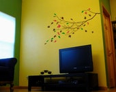 Branch with Leaves Vinyl Wall Decal