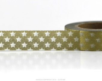 Rustic Gold Star Washi Tape