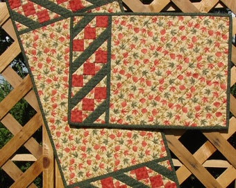 Split Nine Patch Pattern - Quilted Table Runner or Placemats