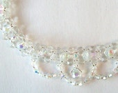 Hand Beaded Vintage Austrian Crystal And Glass Choker
