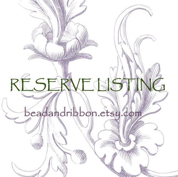 Reserve Listing for bodhibeadworks