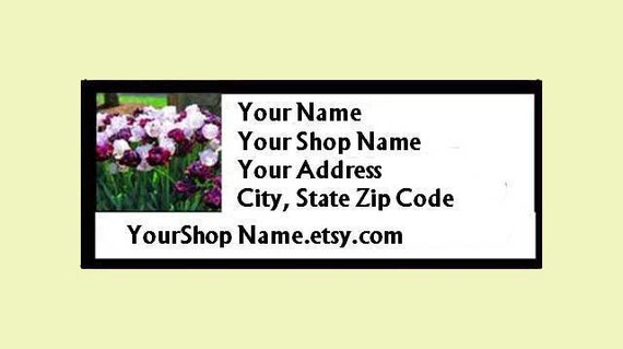 60 PERSONALIZED Return Address Labels. 2 Sheets of White 1-inch Labels. 2732