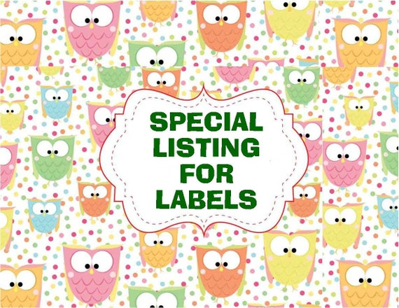 "SPECIAL LISTING for SARA / 3 White Full-Sheet Labels with One Image on Each Sheet Approximately 5.794"" x7"". 2935"