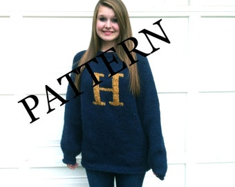 PATTERN -PATTERN - PATTERN - Sweater with Letter H