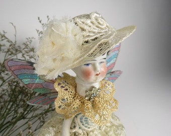 """Angel """"Tattered Lace"""" Assemblage Art Doll"""