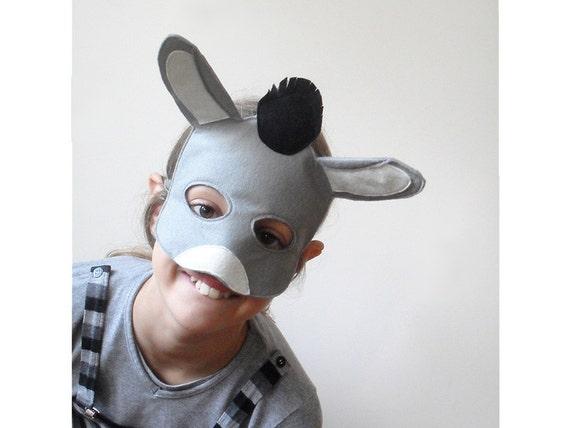kinder esel maske f r karneval und krippenspiel kinder kleid. Black Bedroom Furniture Sets. Home Design Ideas