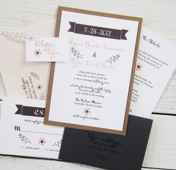 Items Similar To Banner Country Wedding Invitation
