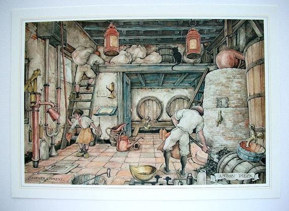 Anton Pieck Print Vintage Reproduction