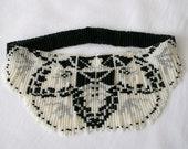 Doily Weave Fringe Beaded Necklace