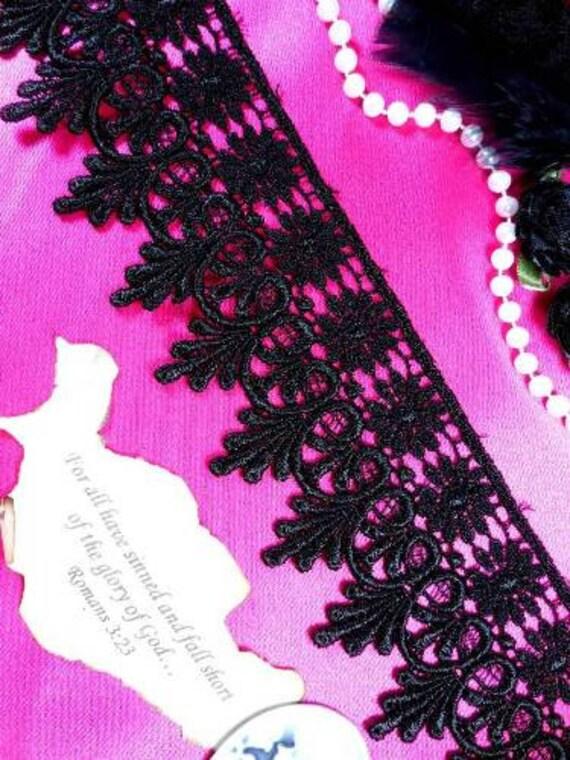 "C137 Elegant Black Victorian Venice Lace Trim  2.75"" (C137-bk)"