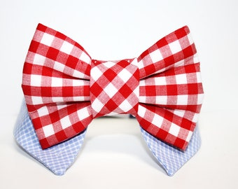 Shirt and bow tie dog collar- presidential theme- star print bow tie- red white and blue bow tie- dog bow tie-