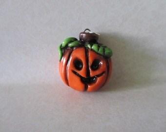 Pumpkin Jack o Lantern pendant