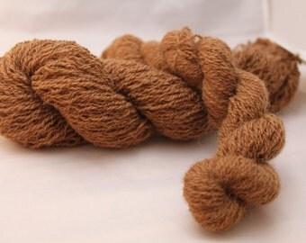 30% off STORE CLOSING SALE Recycled Brown Alpaca Yarn, Sport Yarn - 295 Yards
