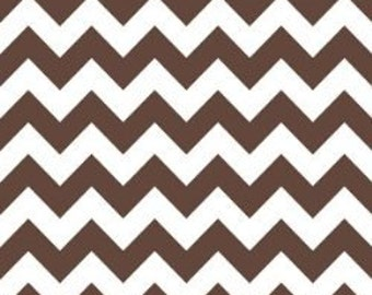 Riley Blake Medium Chevron Fabric in Brown -- 3/4 yard