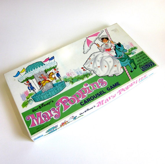 reserved for kira // Parker Brothers Mary Poppins Carousel Game 1964 / Complete and Like-New