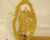 HORSE HEAD in FEATHER Scroll Saw Plaque