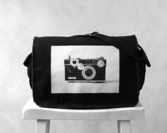 Messenger Bag - The Argus C3 - Vintage Camera Photograph - School Bag  - Canvas Bag